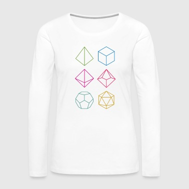 Dungeons And Dragons Minimal dnd (dungeons and dragons) dice - Women's Premium Longsleeve Shirt