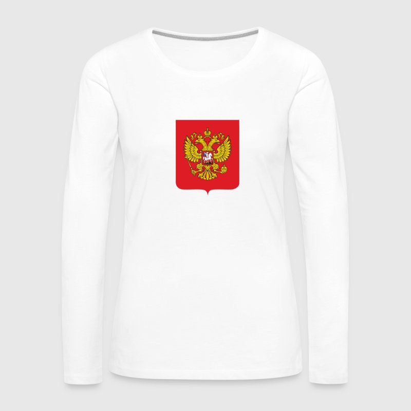 National Coat of Arms i Russland - Premium langermet T-skjorte for kvinner