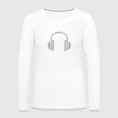 headphone black - Women's Premium Longsleeve Shirt