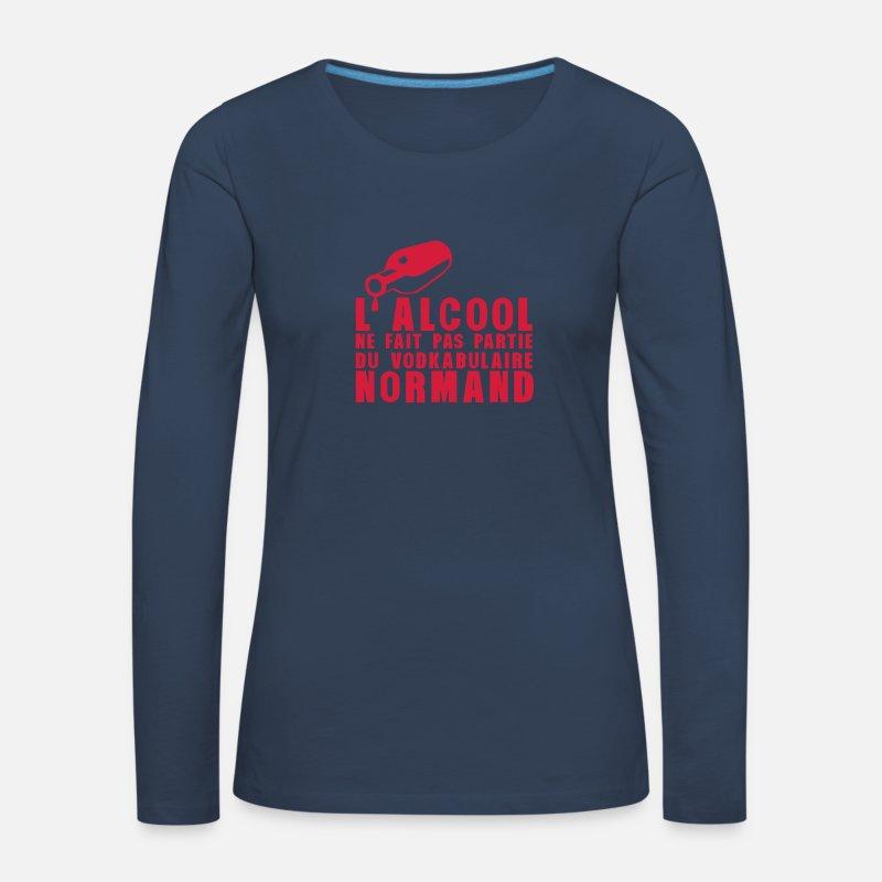 normand alcool vodkabulaire humour T-shirt manches longues premium Femme    Spreadshirt 8dd8cd6378b9