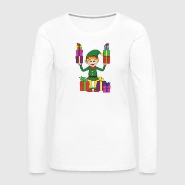 Winter Christmas theme Christmas elf Christmas elves - Women's Premium Longsleeve Shirt