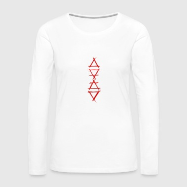 Element Element symbol 4 elements red - Women's Premium Longsleeve Shirt