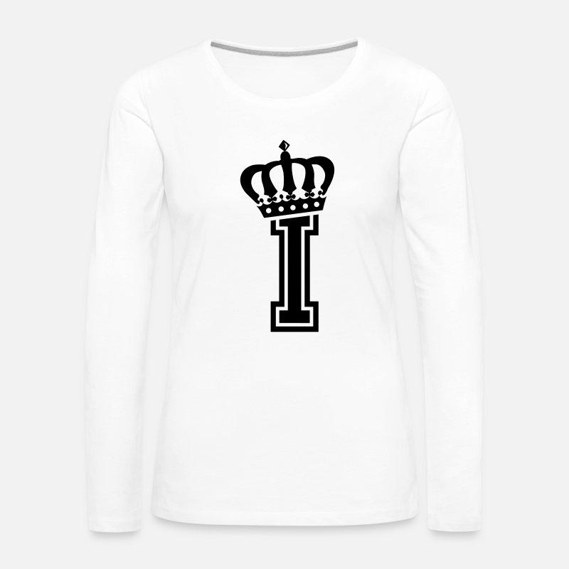 Litera I Premium Koszulka Damska Z Długim Rękawem Spreadshirt