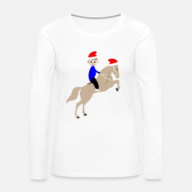 Stag Party Riding Christmas Xmas Christmas party - Women's Premium Longsleeve Shirt
