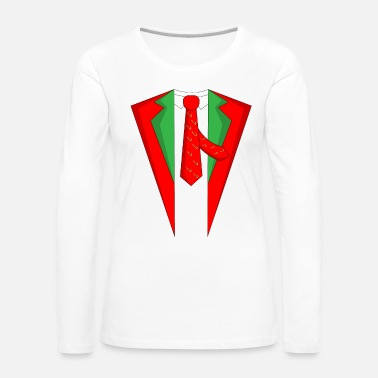 Stag Suit Christmas Xmas Christmas party - Women's Premium Longsleeve Shirt