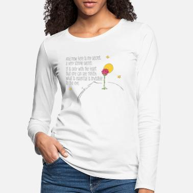 Anns Selection The Little Prince Quote Heart Sees Rightly - Women's Premium Longsleeve Shirt