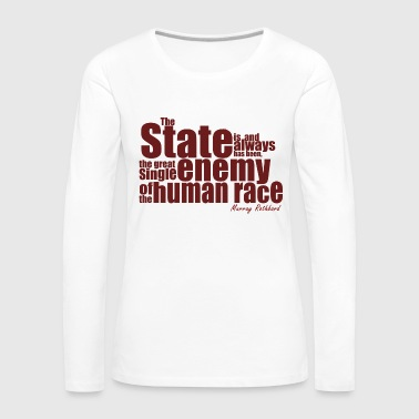 enemy human race rothbard - Frauen Premium Langarmshirt