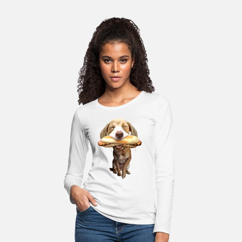 Retirement Long sleeve shirts - HOTDOG - Women's Premium Longsleeve Shirt white