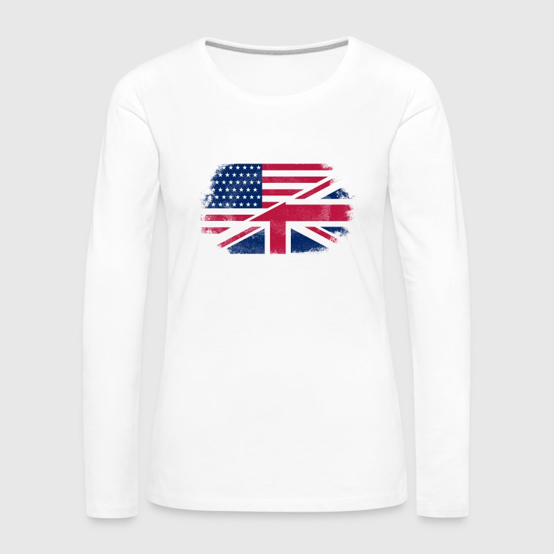 USA - Union Jack Flag - Women's Premium Longsleeve Shirt