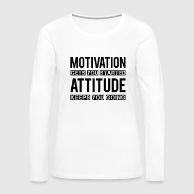 Motivation - Frauen Premium Langarmshirt