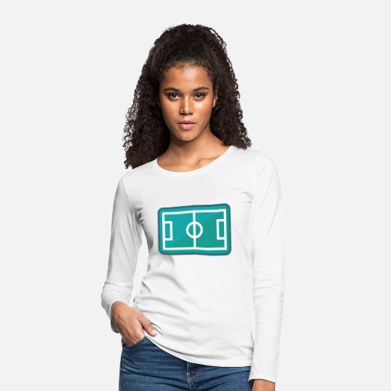 Gift Idea Long Sleeve Shirts - Football field from above - Women's Premium Longsleeve Shirt white