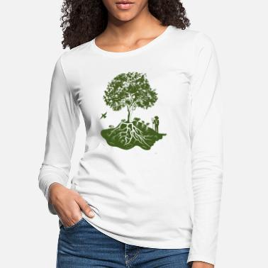 Permaculture: trees, humans, nature and animals - Women's Premium Longsleeve Shirt