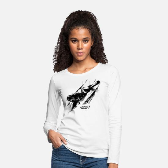 Computer Game Long Sleeve Shirts - World of Tanks Leopard 1 - Women's Premium Longsleeve Shirt white