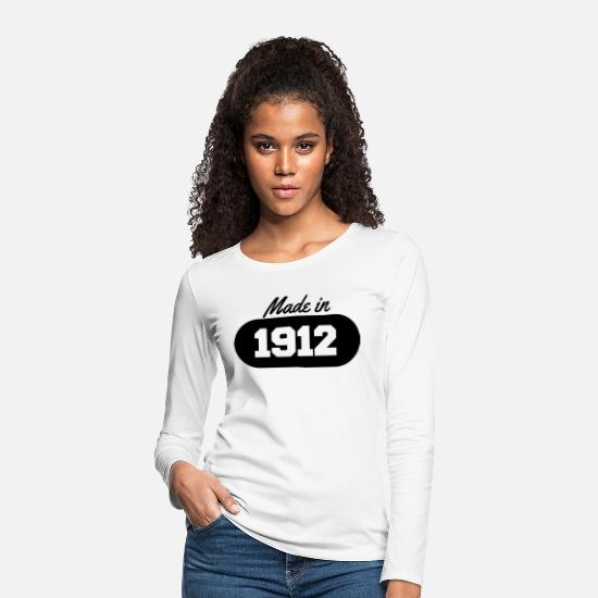 Date Long sleeve shirts - Made in 1912 - Women's Premium Longsleeve Shirt white