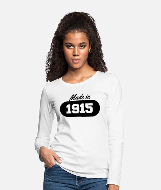 Quote Long-Sleeved Shirts - Made in 1915 - Women's Premium Longsleeve Shirt white