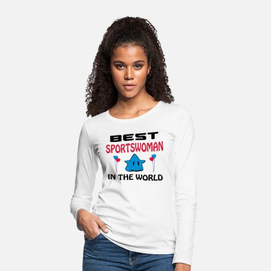 Basketball Langærmede shirts - Best sportswoman in the world - Premium langærmet T-Shirt dame hvid
