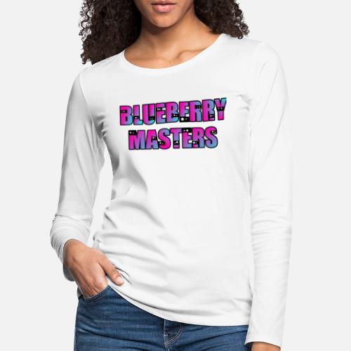 Women s Premium Longsleeve ShirtMerchandise Pink with blue pearl effect 0378274f66