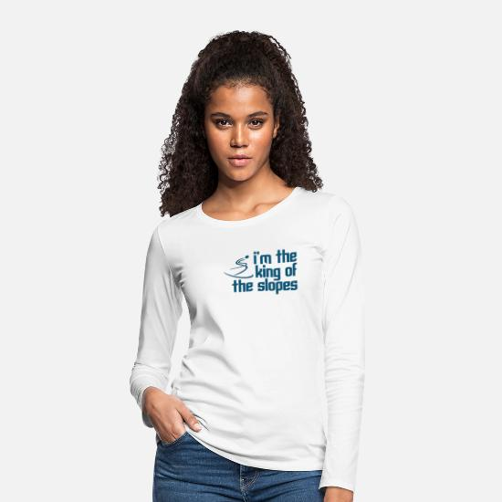 Movie Quote Long sleeve shirts - King of the Slopes - Women's Premium Longsleeve Shirt white