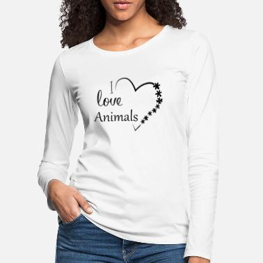 I Love Animals - Women's Premium Longsleeve Shirt