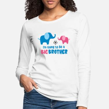 Brother Big Brother Elephant - Women's Premium Longsleeve Shirt