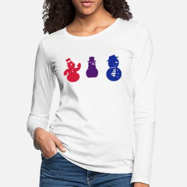 Multi Coloured Christmas snowman Multi coloured - Women's Premium Longsleeve Shirt
