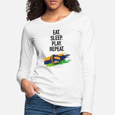 Fatboy Slim Eat.Sleep.Play.Repeat. - T-shirt manches longues premium Femme