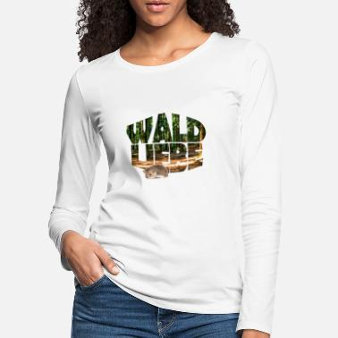 German forest 20 forest love with hedgehogs - Women's Premium Longsleeve Shirt