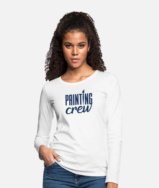 Occupation Long-Sleeved Shirts - Painter painting painter painter training - Women's Premium Longsleeve Shirt white