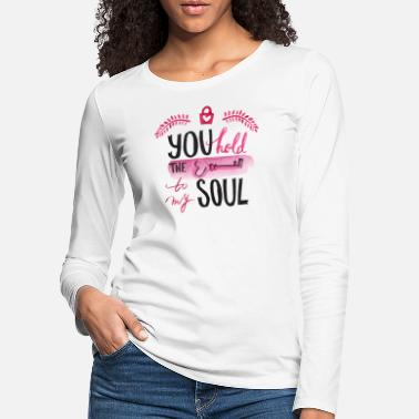 Retro You hold the key to my soul watercolor - Women's Premium Longsleeve Shirt