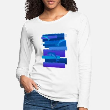 Waves & dolphins - Women's Premium Longsleeve Shirt