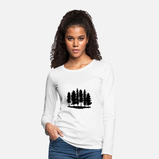 Forest Long Sleeve Shirts - Forest, Trees, Tree - Women's Premium Longsleeve Shirt white