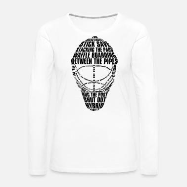 18b67433501 Ice Hockey Goalie Mask (black) Women s Ringer T-Shirt