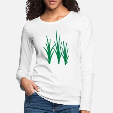 Herbe Herbe - T-shirt manches longues premium Femme