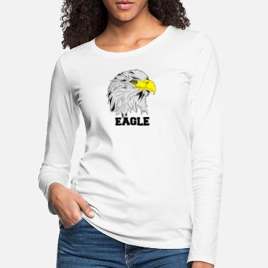 Eagles Eagle Eagle Head Comic - Premium langærmet T-Shirt dame