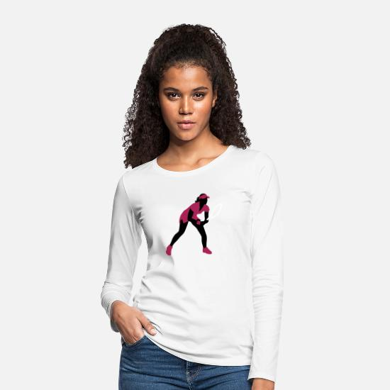 Tennis Long sleeve shirts - tennis_female_3c - Women's Premium Longsleeve Shirt white