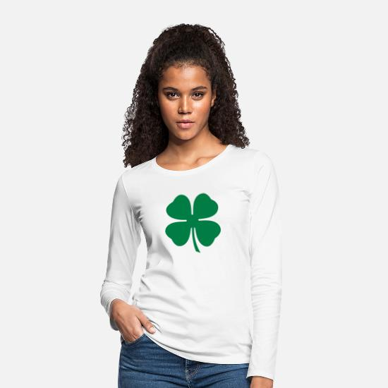 Patrick Long sleeve shirts - Clover - Women's Premium Longsleeve Shirt white