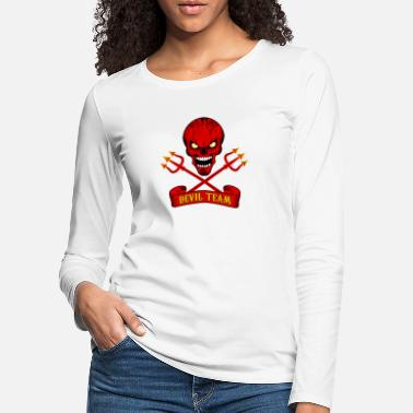 Bikers devil team - Frauen Premium Langarmshirt