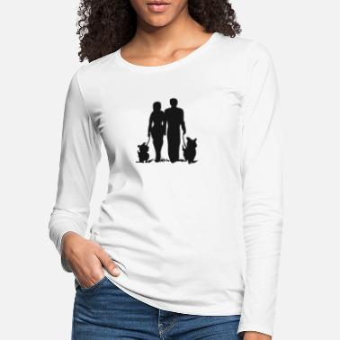 Dogwalking Walking together with the dogs, they go for a walk - Women's Premium Longsleeve Shirt