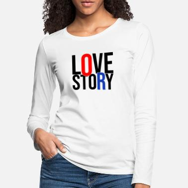 Kiss love story - Women's Premium Longsleeve Shirt