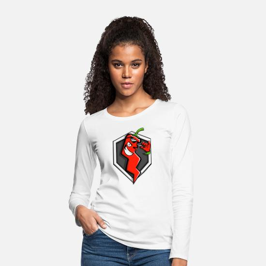 Blitz Long Sleeve Shirts - World Of Tanks Blitz Red Pepper Logo - Women's Premium Longsleeve Shirt white