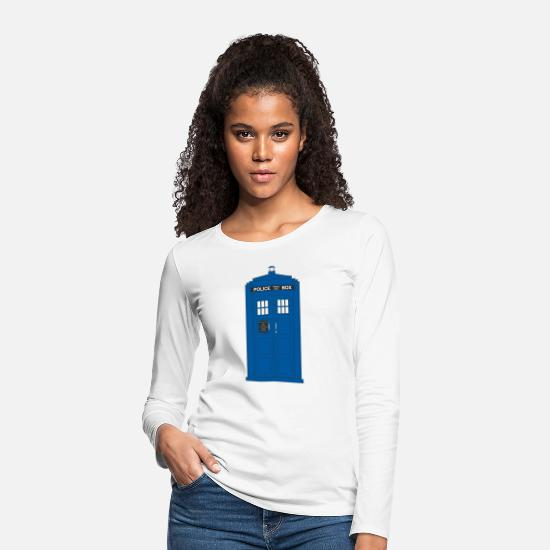 Doctor Long sleeve shirts - The Police Call Box - Women's Premium Longsleeve Shirt white