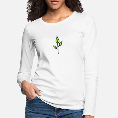 Tatovering Nature, Seedling, young Plant - Premium langærmet T-Shirt dame
