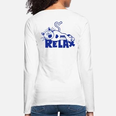 Relax Relax Chat - T-shirt manches longues premium Femme