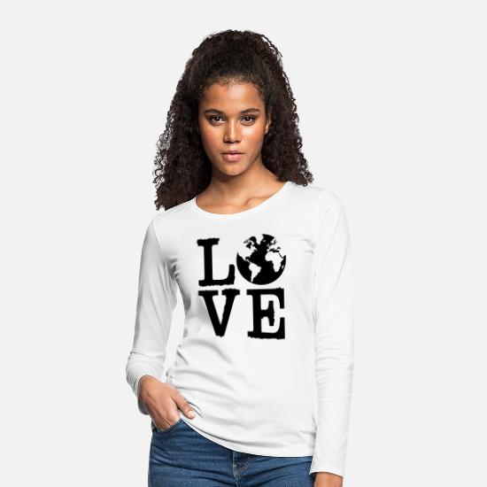 Continent Long sleeve shirts - Love Earth - Women's Premium Longsleeve Shirt white