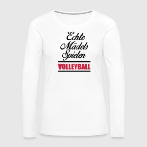 Volleyball Shirt - Beachvolleyball Shirt - Team - Frauen Premium Langarmshirt
