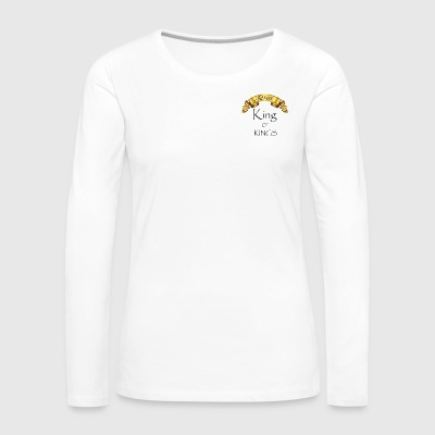 Jesus King of Kings - Women's Premium Longsleeve Shirt