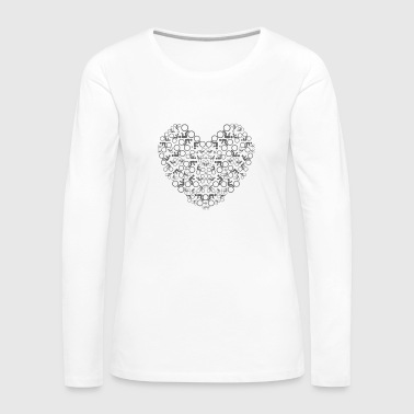T-SHIRT LOVE MY BIKE - Frauen Premium Langarmshirt