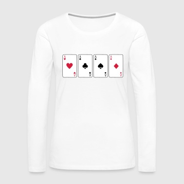 Card Game, Poker, Ace - T-shirt manches longues Premium Femme
