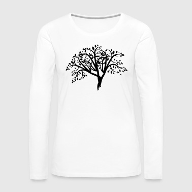 Baum Illustration - Frauen Premium Langarmshirt