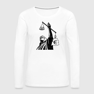Injustice class struggle redistribution finances - Women's Premium Longsleeve Shirt